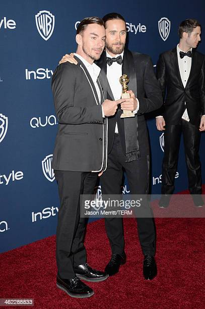 Musician Shannon Leto and actor Jared Leto winner of Best Supporting Actor in a Motion Picture Drama Musical or Comedy for 'Dallas Buyers Club'...