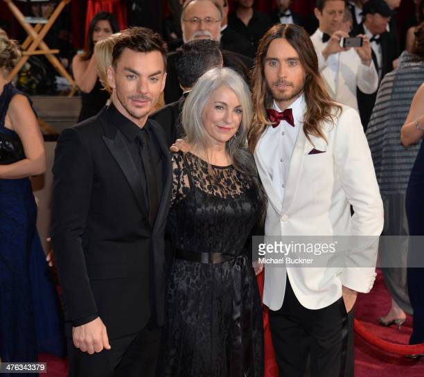 Musician Shannon Leto Constance Leto and actor Jared Leto attend the Oscars held at Hollywood Highland Center on March 2 2014 in Hollywood California