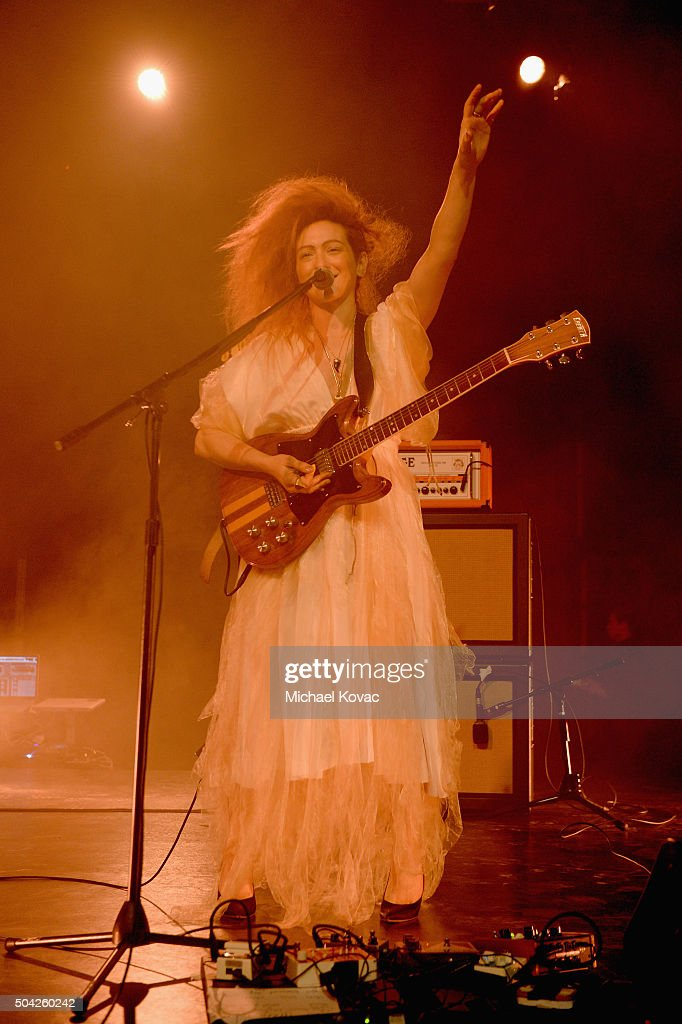 Musician Shara Worden performs onstage during The Art of Elysium 2016 HEAVEN Gala presented by Vivienne Westwood & Andreas Kronthaler at 3LABS on January 9, 2016 in Culver City, California.