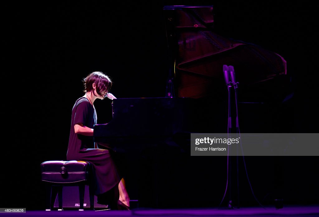 Musician Sharon Van Etten performs onstage following the 'Entertainment' premiere during the Sundance NEXT FEST at The Theatre at Ace Hotel on August...