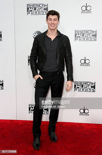 Musician Shawn Mendes attends the 2016 American Music Awards at Microsoft Theater on November 20 2016 in Los Angeles California