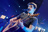 Musician Shawn Mendes performs onstage during the 2015 iHeartRadio Jingle Ball at Verizon Center on December 14 2015 in Washington DC