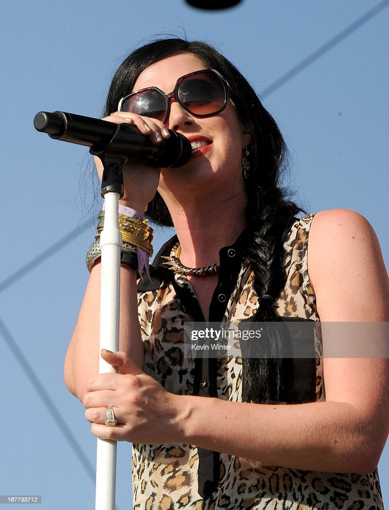 Musician Shawna Thompson of Thompson Square performs onstage during 2013 Stagecoach: California's Country Music Festival held at The Empire Polo Club on April 28, 2013 in Indio, California.