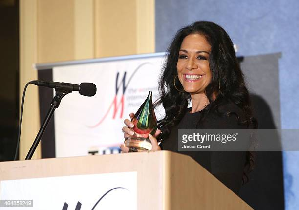 Musician Sheila E attends the 2014 National Association of Music Merchants show at the Anaheim Convention Center on January 23 2014 in Anaheim...