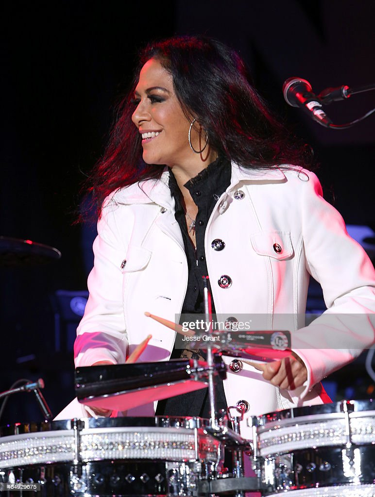 Musician <a gi-track='captionPersonalityLinkClicked' href=/galleries/search?phrase=Sheila+E.&family=editorial&specificpeople=242934 ng-click='$event.stopPropagation()'>Sheila E.</a> attends the 2014 National Association of Music Merchants show at the Anaheim Convention Center on January 24, 2014 in Anaheim, California.