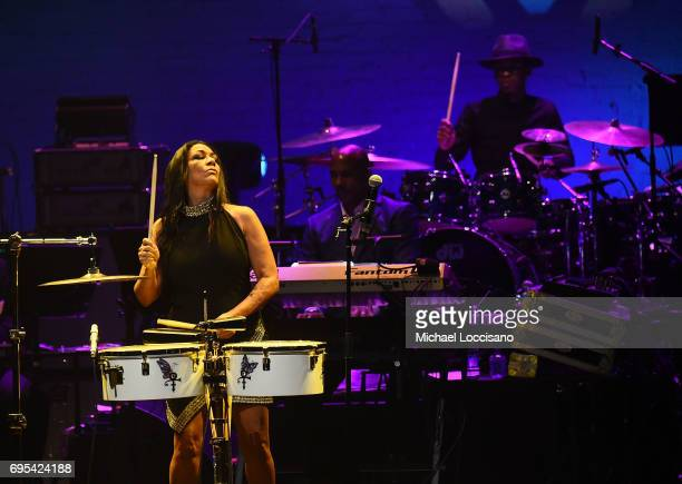 Musician Sheila E performs during the Apollo Spring Gala 2017 at The Apollo Theater on June 12 2017 in New York City