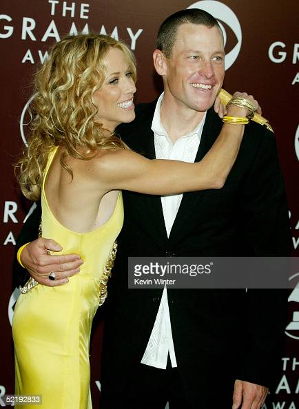 Musician Sheryl Crow and boyfriend cyclist Lance Armstrong arrive to the 47th Annual Grammy Awards at the Staples Center on February 13 2005 in Los...