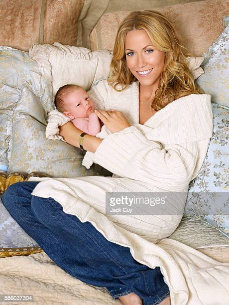 Musician Sheryl Crow and son Wyatt Steven Crow are photographed for OK Magazine in 2007 in Los Angeles California COVER IMAGE