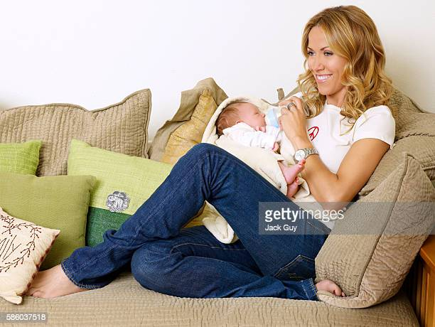 Musician Sheryl Crow and son Wyatt Steven Crow are photographed for OK Magazine in 2007 in Los Angeles California PUBLISHED IMAGE