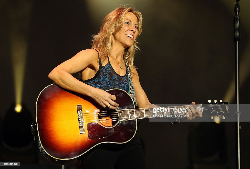 Musician Sheryl Crow performs onstage at the ACM Party For A Cause Festival during the 48th Annual Academy of Country Music Awards at the Orleans Arena on April 6, 2013 in Las Vegas, Nevada.