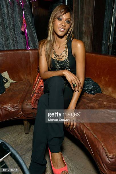 Musician Shontelle Layne attends the Catch Roof One Year Anniversary Party at Catch Roof on September 10 2012 in New York City