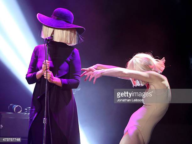 Musician Sia and dancer Denna Thomsen perform at An Evening with Women benefiting the Los Angeles LGBT Center at the Hollywood Palladium on May 16...