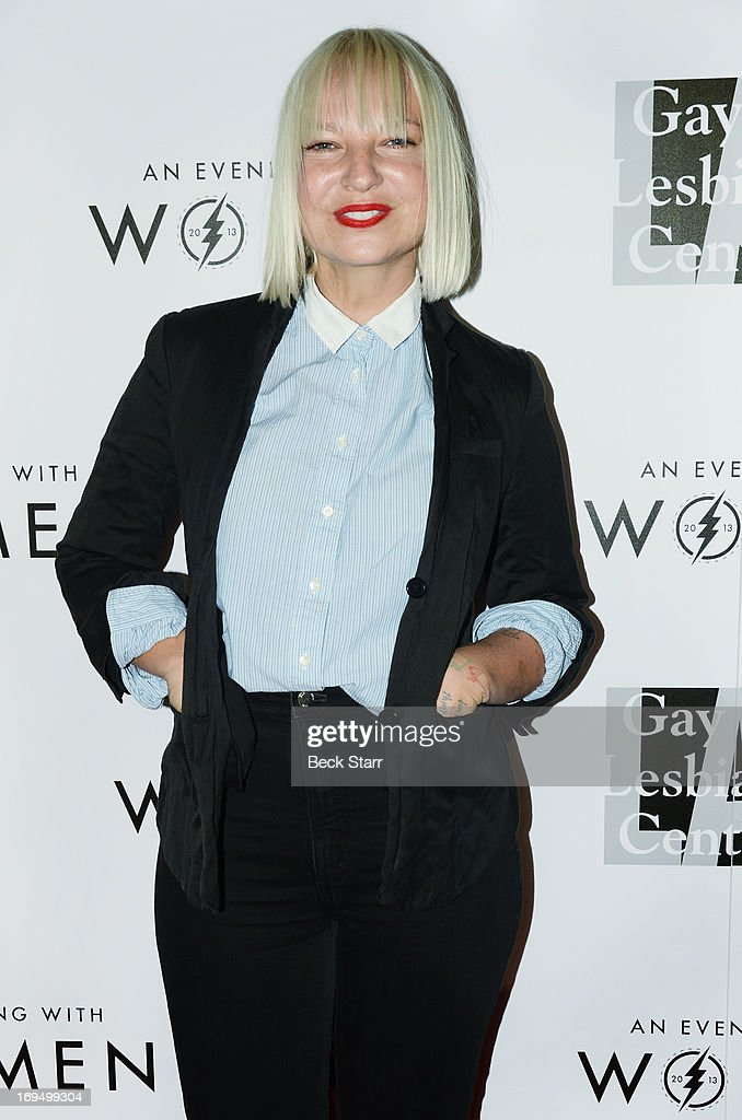 Musician Sia arrives at the L.A. Gay & Lesbian Center's 2013 'An Evening With Women' gala at The Beverly Hilton Hotel on May 18, 2013 in Beverly Hills, California.