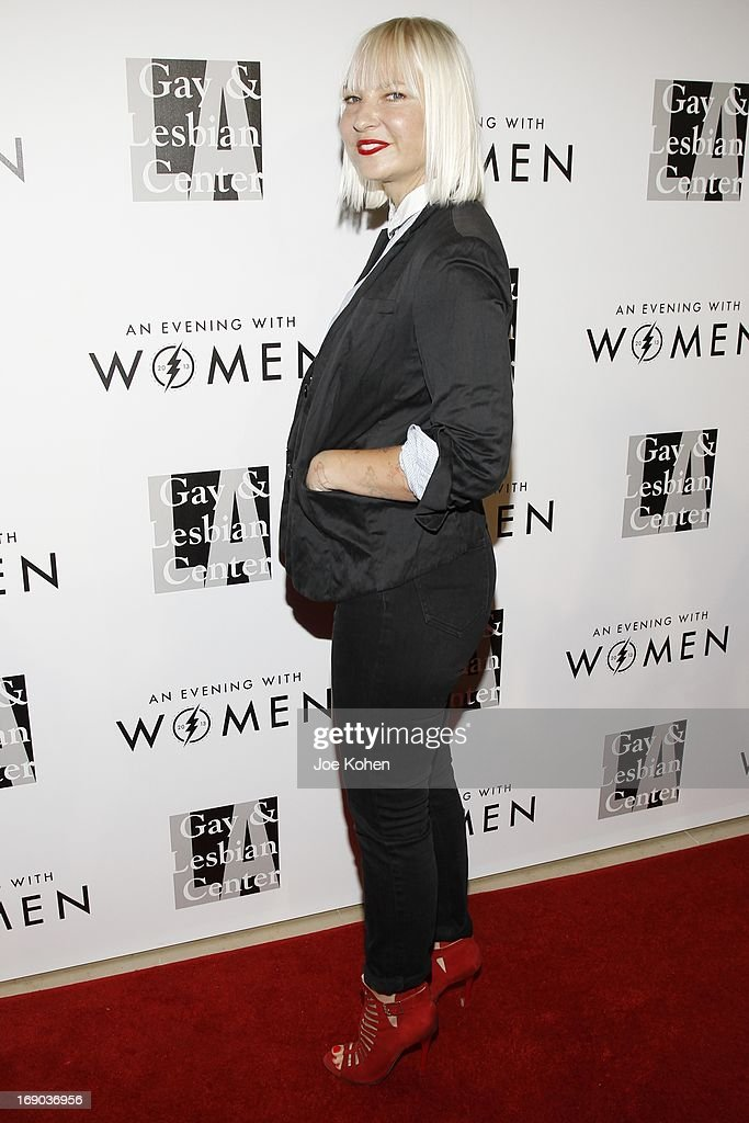 Musician Sia attends the L.A. Gay & Lesbian Center's 2013 'An Evening With Women' Gala at The Beverly Hilton Hotel on May 18, 2013 in Beverly Hills, California.