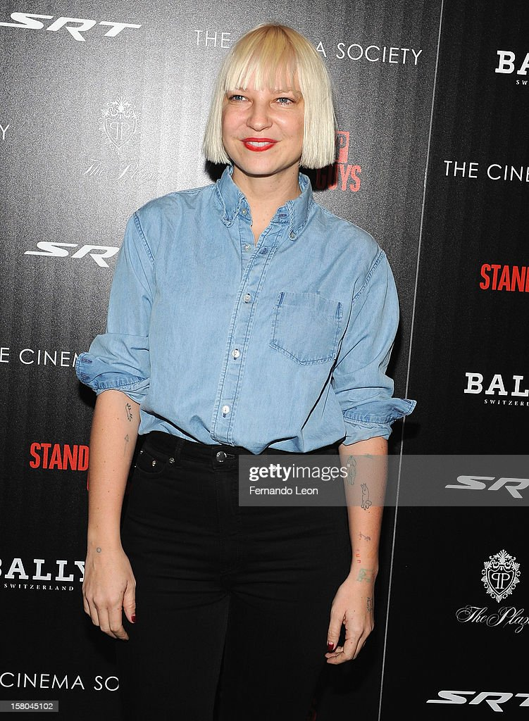 Musician Sia Furler attends the premiere of 'Stand Up Guys' hosted by The Cinema Society with Chrysler and Bally at MOMA on December 9, 2012 in New York City.