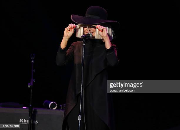 Musician Sia performs at An Evening with Women benefiting the Los Angeles LGBT Center at the Hollywood Palladium on May 16 2015 in Los Angeles...