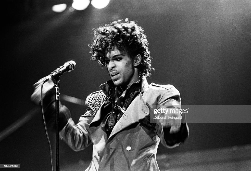 Musician, singer and songwriter Prince performing in concert in 1983 in New York City, New York.