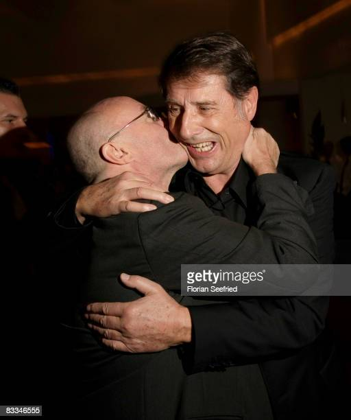 Musician singer producer Phil Collins and singer Udo Juergens attends the german premiere of 'Tarzan Musical' at the New Flora on October 19 2008 in...