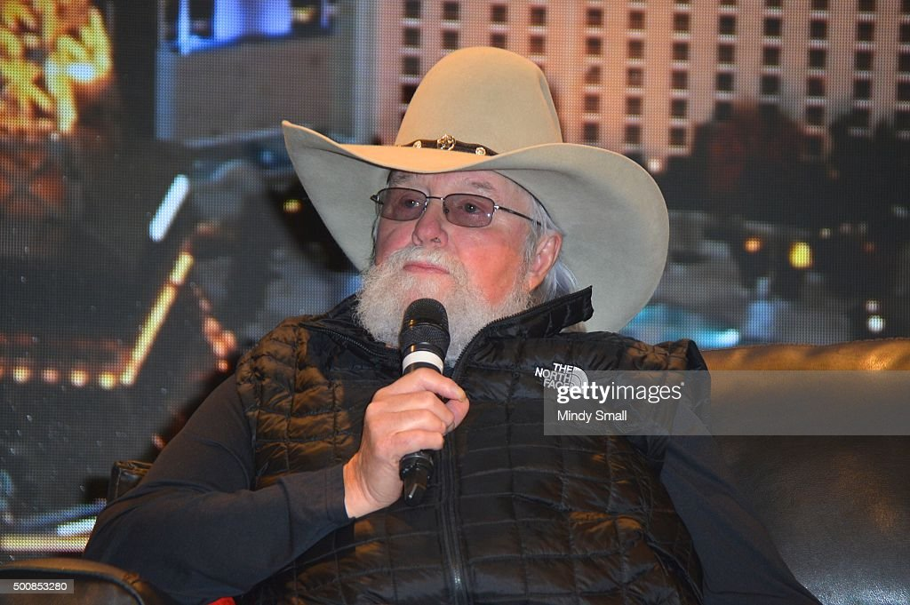 Musician singer/songwriter Charlie Daniels appears during the 'Outside The Barrel' with Flint Rasmussen show at Rodeo Live during the National Finals...