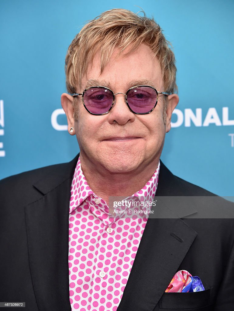 Musician Sir <a gi-track='captionPersonalityLinkClicked' href=/galleries/search?phrase=Elton+John&family=editorial&specificpeople=171369 ng-click='$event.stopPropagation()'>Elton John</a> attends The Geffen Playhouse's 'Backstage at the Geffen' Gala at The Geffen Playhouse on March 22, 2015 in Los Angeles, California.