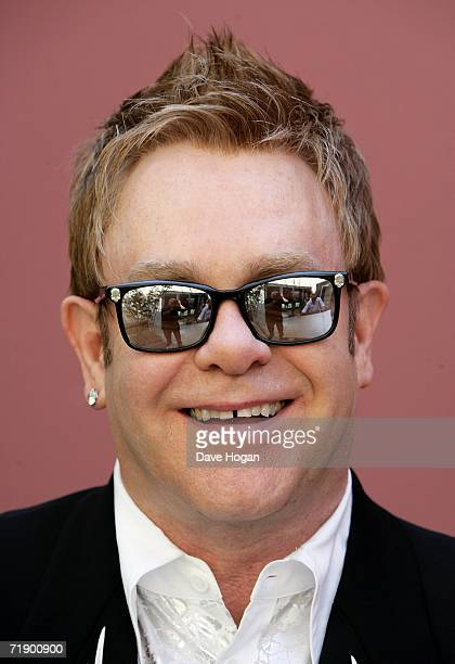 Musician Sir Elton John poses for a portrait shoot to promote his new album 'Captain The Kid' due for release September 18 at his home on September...