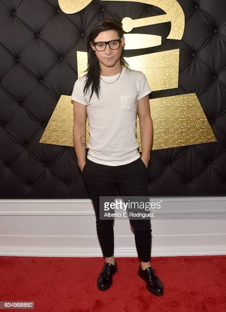 Musician Skrillex attends The 59th GRAMMY Awards at STAPLES Center on February 12 2017 in Los Angeles California