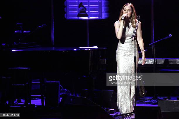 Musician Skylar Grey performs at the 'A Song Is Born' 16th Annual GRAMMY Foundation Legacy Concert held at The Wilshire Ebell Theatre on January 23...