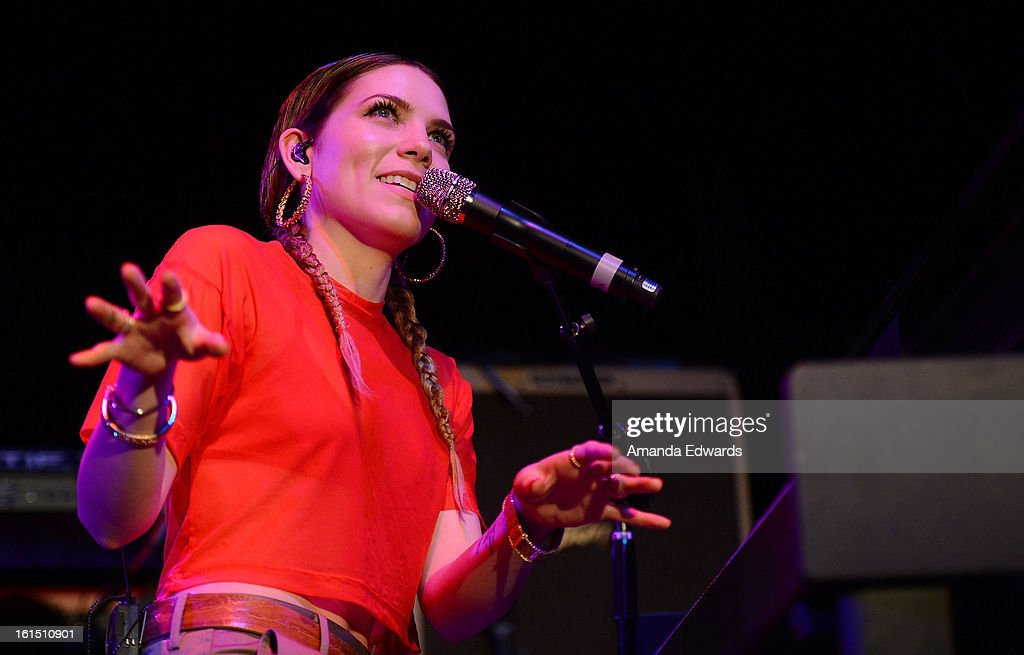 Musician <a gi-track='captionPersonalityLinkClicked' href=/galleries/search?phrase=Skylar+Grey&family=editorial&specificpeople=4349722 ng-click='$event.stopPropagation()'>Skylar Grey</a> performs onstage at the Myspace LIVE Show Presented By Chapstick Sessions at the Key Club on February 11, 2013 in West Hollywood, California.