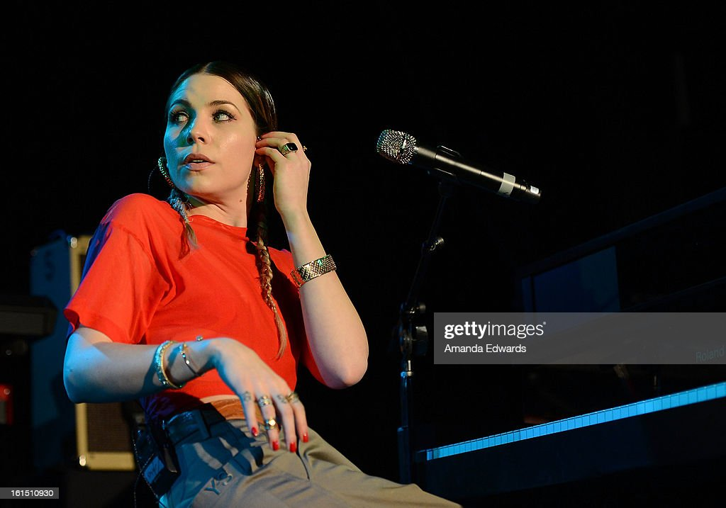 Musician <a gi-track='captionPersonalityLinkClicked' href=/galleries/search?phrase=Skylar+Grey+-+Singer&family=editorial&specificpeople=4349722 ng-click='$event.stopPropagation()'>Skylar Grey</a> performs onstage at the Myspace LIVE Show Presented By Chapstick Sessions at the Key Club on February 11, 2013 in West Hollywood, California.