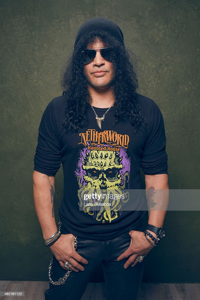 Musician Slash poses for a portrait at the Village at the Lift Presented by McDonald's McCafe during the 2015 Sundance Film Festival on January 25, 2015 in Park City, Utah.