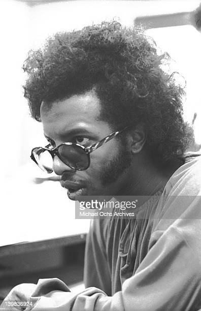 Musician Sly Stone of the psychedelic soul group 'Sly And The Family Stone' poses for a portrait at CBS Records on August 1 1968 in New York New York