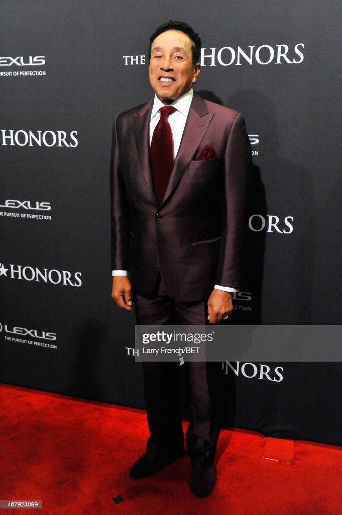 Musician <a gi-track='captionPersonalityLinkClicked' href=/galleries/search?phrase=Smokey+Robinson&family=editorial&specificpeople=210698 ng-click='$event.stopPropagation()'>Smokey Robinson</a> attends BET Honors 2014 at Warner Theatre on February 8, 2014 in Washington, DC.