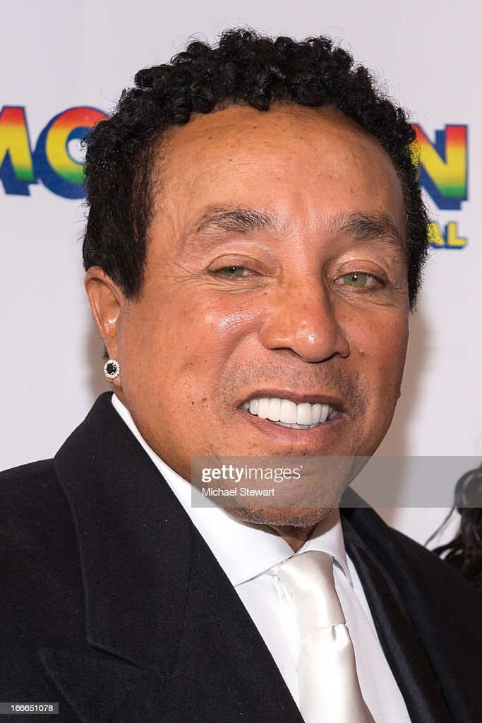 Musician <a gi-track='captionPersonalityLinkClicked' href=/galleries/search?phrase=Smokey+Robinson&family=editorial&specificpeople=210698 ng-click='$event.stopPropagation()'>Smokey Robinson</a> attends the Broadway opening night for 'Motown: The Musical' at Lunt-Fontanne Theatre on April 14, 2013 in New York City.