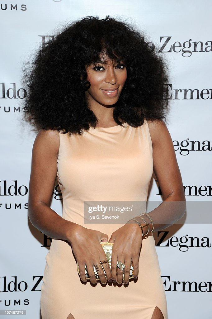 Musician <a gi-track='captionPersonalityLinkClicked' href=/galleries/search?phrase=Solange+Knowles&family=editorial&specificpeople=221489 ng-click='$event.stopPropagation()'>Solange Knowles</a> attends Ermenegildo Zegna 'Essenze' Collection Launch event at The Ermenegildo Zegna Boutique on December 3, 2012 in New York City.