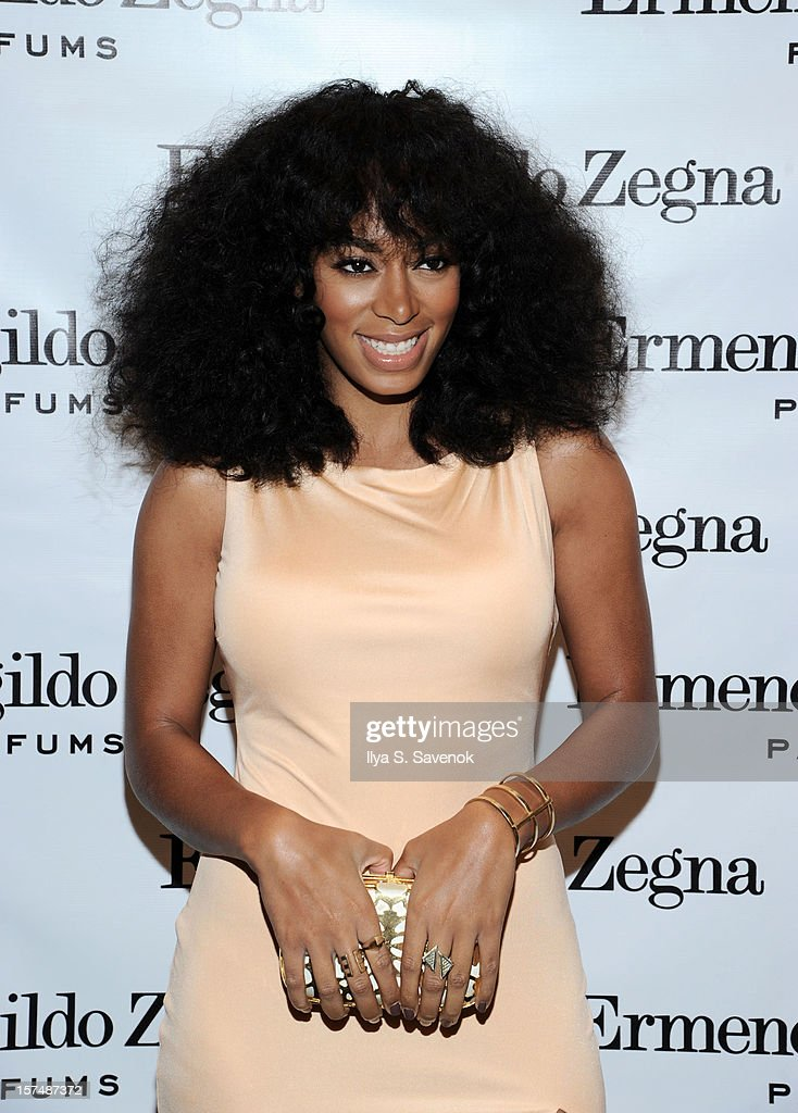 Musician Solange Knowles attends Ermenegildo Zegna 'Essenze' Collection Launch event at The Ermenegildo Zegna Boutique on December 3, 2012 in New York City.