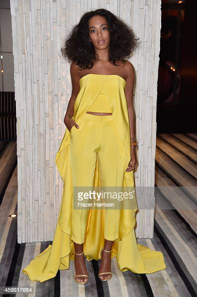 Musician Solange Knowles attends the IWC Schaffhausen and DuJour Magazine's Jason Binn's celebration of 'Timeless Portofino' during Art Basel Miami...