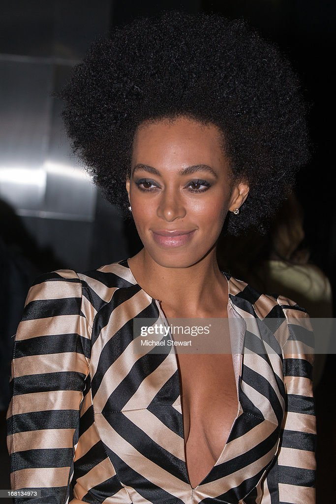 Musician <a gi-track='captionPersonalityLinkClicked' href=/galleries/search?phrase=Solange+Knowles&family=editorial&specificpeople=221489 ng-click='$event.stopPropagation()'>Solange Knowles</a> seen on the streets of Manhattan on May 5, 2013 in New York City.