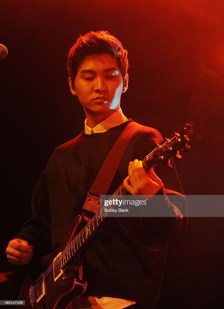 Musician Song Seunghyun of the South Korean pop rock band FT Island performs at Best Buy Theater on January 28 2015 in New York City