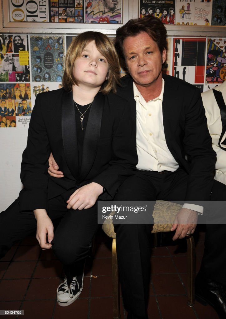 Musician Speck Mellencamp and John Mellencamp at the 23rd Annual Rock and Roll Hall of Fame Induction Ceremony at the Waldorf Astoria on March 10, 2008 in New York City. *EXCLUSIVE*