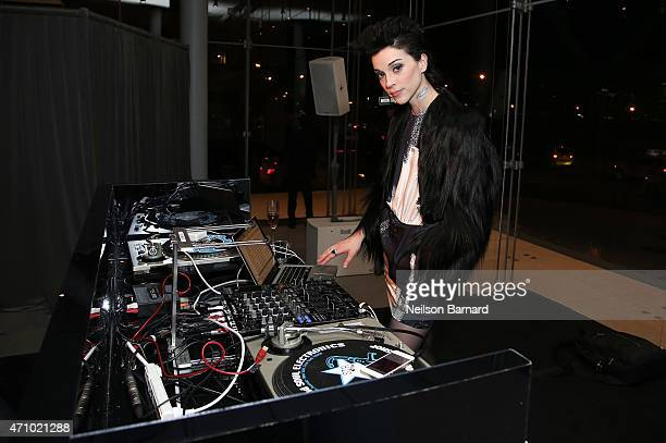 Musician St Vincent attends the Max Mara celebration of the opening of The Whitney Museum Of American Art at its new location on April 24 2015 in New...