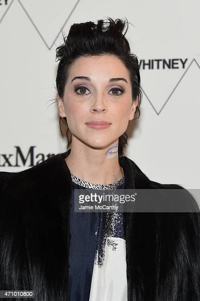 Musician St Vincent wearing Max Mara attends the Max Mara celebration of the opening of The Whitney Museum Of American Art at its new location on...