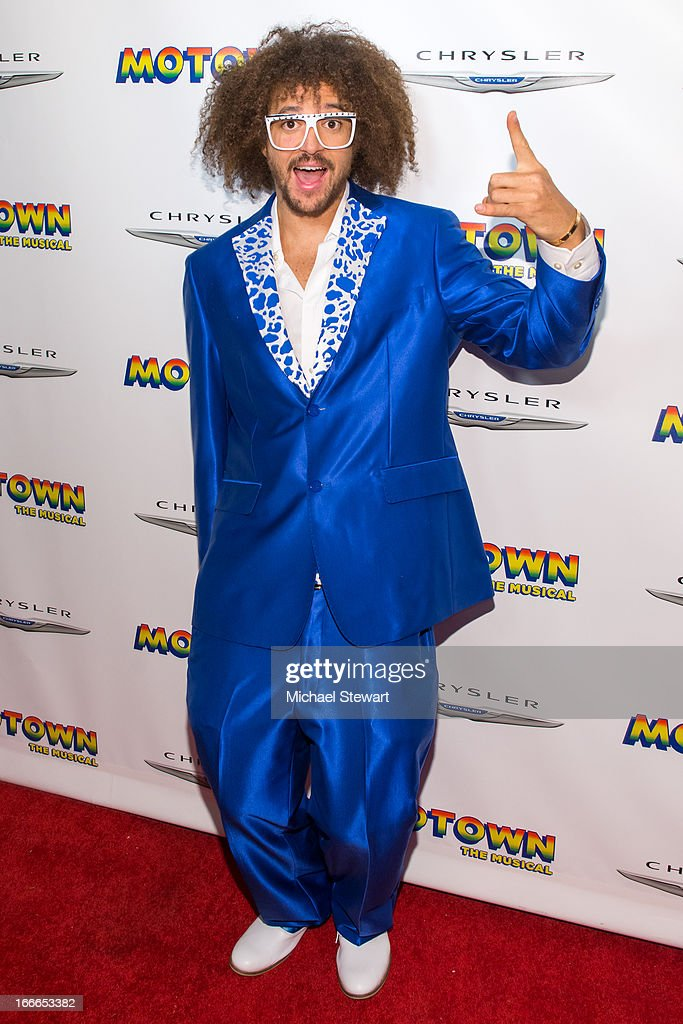 Musician Stefan '<a gi-track='captionPersonalityLinkClicked' href=/galleries/search?phrase=Redfoo&family=editorial&specificpeople=5857552 ng-click='$event.stopPropagation()'>Redfoo</a>' Kendal Gordy of LMFAO attends the after party for the Broadway opening night for 'Motown: The Musical' at Roseland Ballroom on April 14, 2013 in New York City.