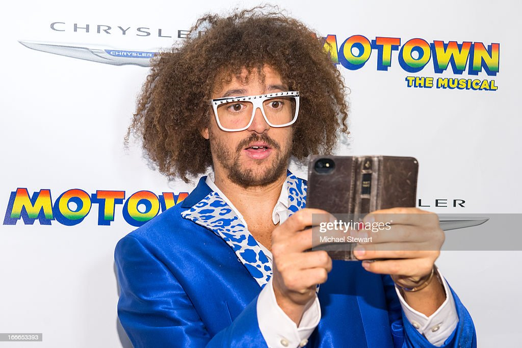 Musician Stefan 'Redfoo' Kendal Gordy of LMFAO attends the after party for the Broadway opening night for 'Motown The Musical' at Roseland Ballroom...