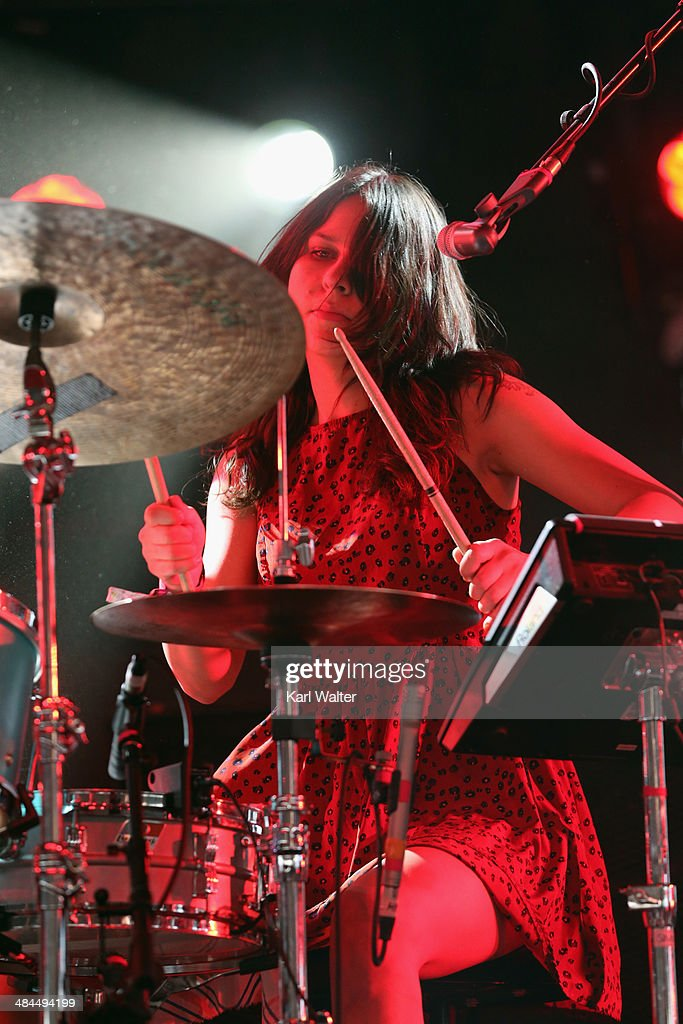 Musician Stella Mozgawa of Warpaint performs onstage during day 2 of the 2014 Coachella Valley Music Arts Festival at the Empire Polo Club on April...