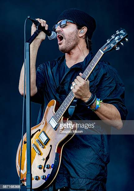 Musician Stephan Jenkins of Third Eye Bliind performs during the Outside Lands Music and Arts Festival at Golden Gate Park on August 7 2016 in San...