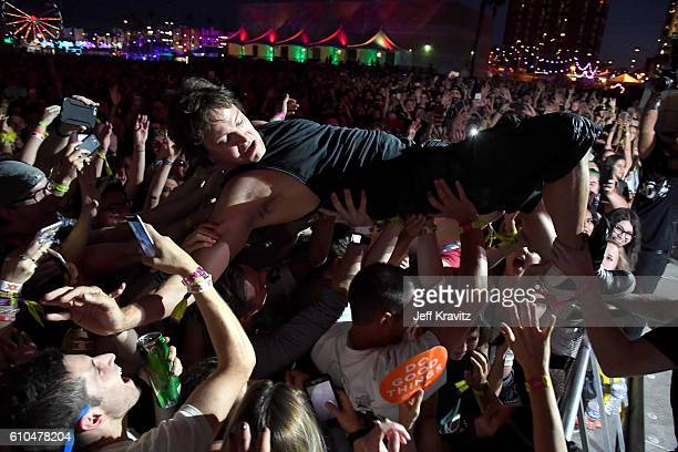 Musician Stephan Jenkins of Third Eye Blind performs onstage during day 3 of the 2016 Life Is Beautiful festival on September 25 2016 in Las Vegas...