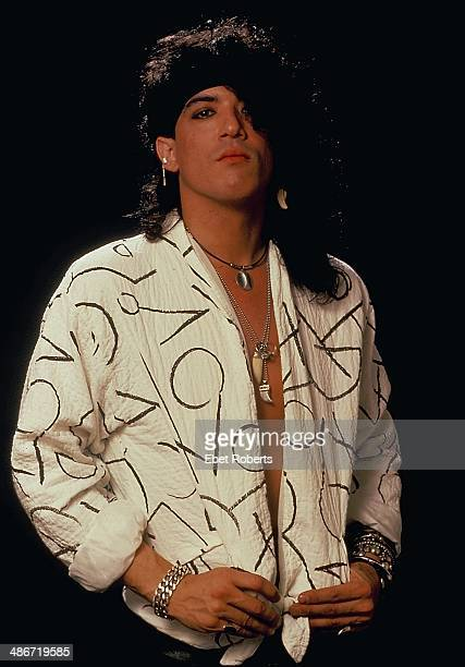 Musician Stephen Pearcy with the rock band Ratt in a posed portrait 1985