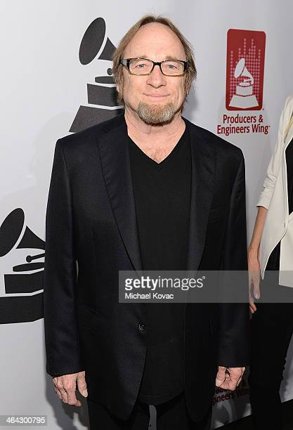 Musician Stephen Stills arrives at the 56th GRAMMY Awards PE Wing Event Honoring Neil Young at The Village Recording Studios on January 21 2014 in...