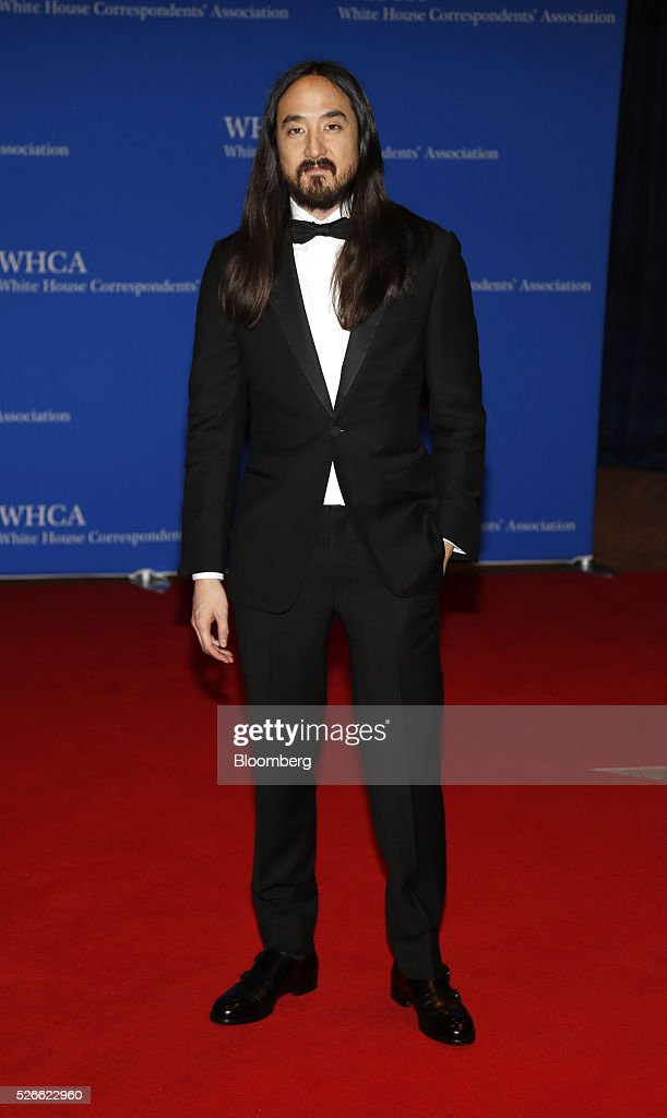 Musician <a gi-track='captionPersonalityLinkClicked' href=/galleries/search?phrase=Steve+Aoki&family=editorial&specificpeople=732001 ng-click='$event.stopPropagation()'>Steve Aoki</a> arrives for the White House Correspondents' Association (WHCA) dinner in Washington, D.C., U.S., on Saturday, April 30, 2016. The 102nd WHCA raises money for scholarships and honors the recipients of the organization's journalism awards. Photographer: Andrew Harrer/Bloomberg via Getty Images
