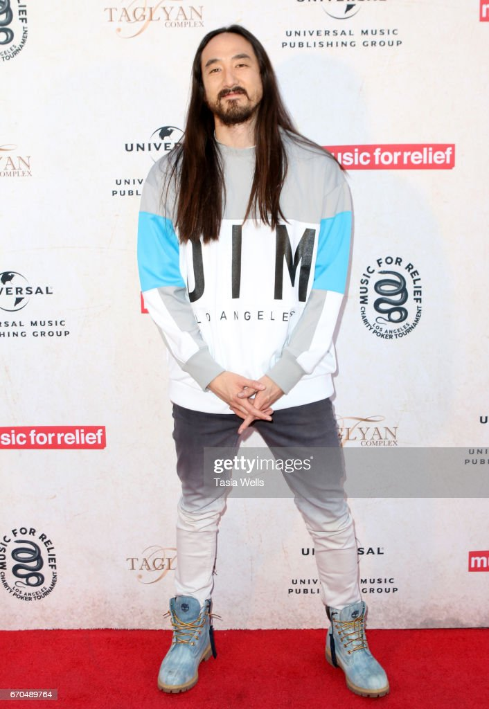 Musician Steve Aoki attends Linkin Park's Music for Relief - Charity Poker Tournament at Taglyan Cultural Complex on April 19, 2017 in Hollywood, California.